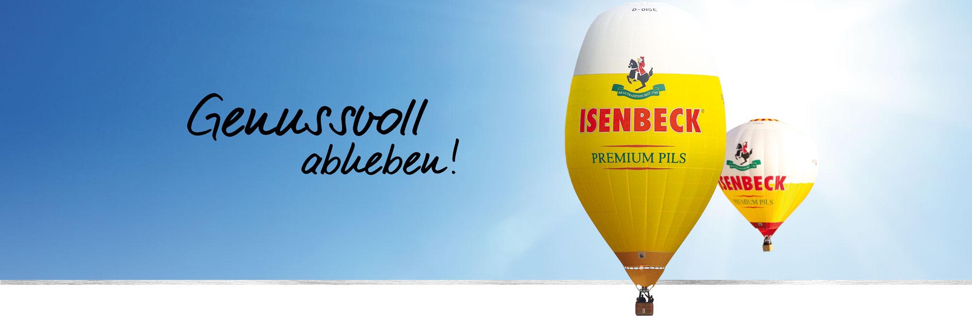 Isenbeck Genussvoll abheben Heißluftballone